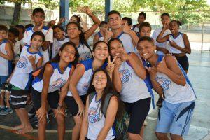 Cerca de 130 crianças e adolescentes participam do Festival Interagindo que reúne alunos do projeto Vôlei em Rede – Núcleos Rio/RJ e convidados no Núcleo Ilha do Governador.